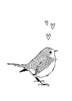 Marieke ten Berge 'Kaart Vogel'