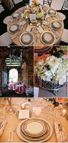 the place setting plates
