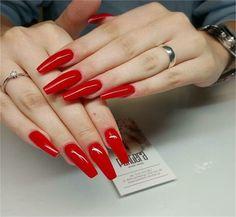 #acrylic_nails #red_nail_art #nail_art_designs #trendy_manicure