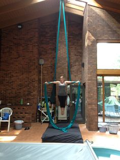 Aerial Silks: Been working on that 90degree angle for a while!