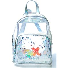 Current Mood Unicorns R Watchin' Backpack (355 SEK) ❤ liked on Polyvore featuring bags, backpacks, mini bag, clear backpack, knapsack bag, mini backpacks and holographic bag