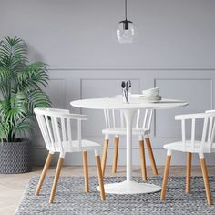 Set of 2 Balboa Barrel Back Dining Chair White/Natural - Project 62 White Dining Chairs, Kitchen Chairs, Kitchen Decor, Dining Area, Dining Table, Dining Room, Target Home Decor, Under The Table, Wood Projects