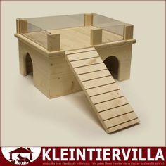 Haus Suite Meerschweinchen Hamster Maus Haus Holz Neu Tiere Schlafhaus Terasse | eBay