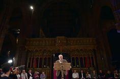 Le prêche anti-austérité de Jeremy Corbyn dans la cathédrale de Manchester