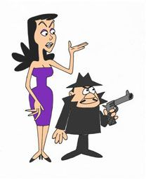 chartoon characters Boris Badenov and Natasha Fatale cartoon characters Classic Cartoon Characters, Favorite Cartoon Character, Classic Cartoons, Cartoon Art, Cartoon Illustrations, Old Tv Shows, Kids Shows, Desenhos Hanna Barbera, Vintage Cartoons