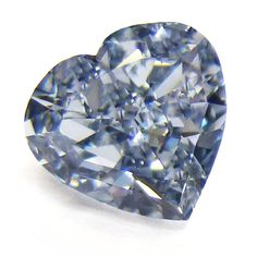 0.73ct. Heart Shape Fancy Blue Diamond