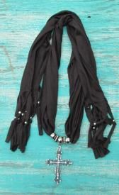Cross Pendent Scarf In 3 Colors $8.00