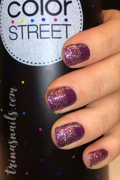 Easy at home nails with color street  Aberdeen aubergine Mt. Crushmore   #nailart #nailpolish #colorstreet #naildesigns #manicure