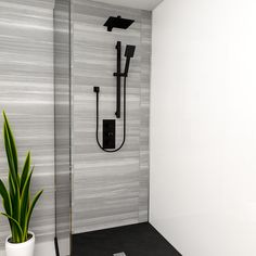 We love this Matt Black Shower - stylish, sleek and sophisticated!  #WholesaleDomesticBathrooms #BlackBathrooms #BlackInteriors #BathroomDesign #BathroomIdeas #Shower #BlackShower #BlackAccessories