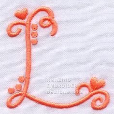 Amazing Embroidery Designs  Letter L