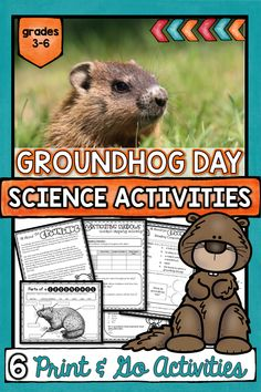 Engage your 3rd-6th graders with these Groundhog Day Science Activities. This complete lesson plan features a PowerPoint presentation, research activity, lab investigation (measuring shadows), CLOSE reading activity, lifecycle flipbook, and Printables! Everything you need to celebrate Groundhog's Day without sacrificing fun Science activities for your elementary students. #groundhogdayactivities #groundhogdayscience #thetrendyscienceteacher #groundhogdaylessonplans #groundhogdayscienceexperiment