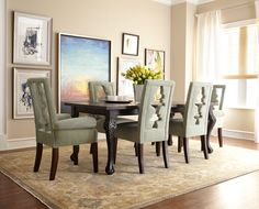 The chairs...Dining Room Ideas - Dining - Furniture - Horchow