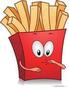 Funny french fries cartoon vector 02 free vector download