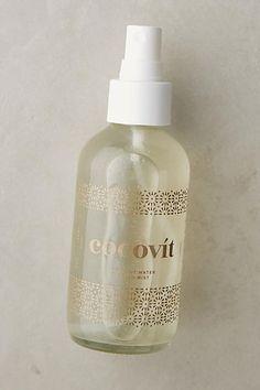 For moisture. | Cocovit Facial Mist | Key ingredients: coconut water, aloe vera water, witch hazel, dead sea salt, honeysuckle, vegetable glycerin, coconut oil, essential oils.