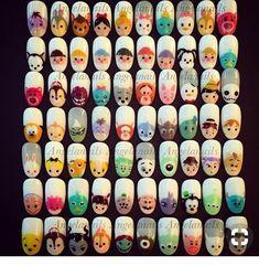 Trendy Nail Art, Cute Nail Art, Stylish Nails, Cute Nails, Disney Acrylic Nails, Disney Nails, Best Acrylic Nails, Disney Disney, Disney Nail Designs