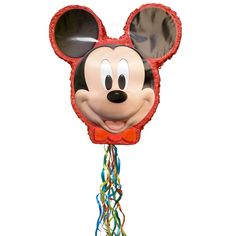 Mickey Mouse Pinata, Pull-String By Unique Mickey Mouse Party Games, Mickey Mouse Pinata, Mickey Mouse Birthday Theme, Mickey Mouse Party Supplies, Mickey Mouse Party Decorations, Mickey Party, Second Birthday Ideas, Sons Birthday, Birthday Games