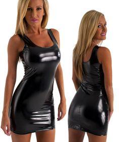 82efdd35f3f Hot Tight Sexy Mini Club Dress in Super Stretch Black Vinyl