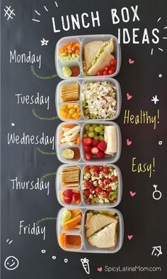 Lunch Meal Prep, Healthy Meal Prep, Healthy Eating, Healthy Food For Kids, Easy Healthy Snacks, Breakfast Healthy, Fast Breakfast Ideas, Weekly Meal Prep, How To Eat Healthy