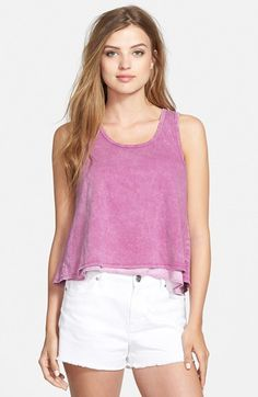 Sun & Shadow Wash Wrap Back Tank (Juniors) | Nordstrom