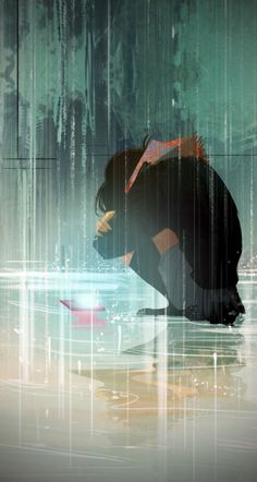 Hier Empfang - - You are in the right place about anime dessin Here we offer you the m Sad Anime Girl, Anime Art Girl, Anime Girls, Anime Triste, Arte Obscura, Sad Art, Anime Scenery, Aesthetic Anime, Aesthetic Outfit