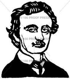 Edgar Allen Poe Unmounted | 100 Proof Press