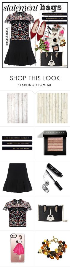 """rin"" by rindularas on Polyvore featuring NLXL, Bobbi Brown Cosmetics, Carven, Needle & Thread, Kate Spade, LØMO, Casetify and Burberry"