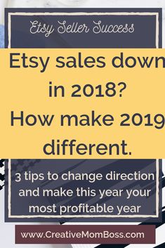 Etsy Sales Down in Three Tips to Rock 2019 — Lauren Keplinger Etsy Business, Craft Business, Business Tips, Etsy Seo, Work From Home Business, Sales And Marketing, Media Marketing, Handmade Shop, Handmade Products