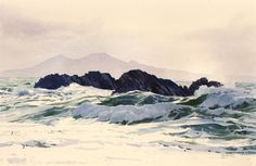 Rocks at Ynys Llanddwyn, Open Edition Print (Giclee) from an original watercolour painting by Rob Piercy