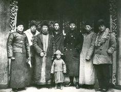 His Holiness the Dalai Lama with Ma-Bufang and his officials, 1940.