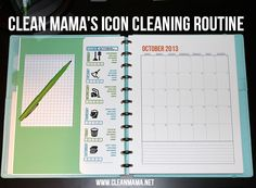 Organize your cleaning routine!  Try Clean Mama's simple method - it's easy with this free printable via Clean Mama