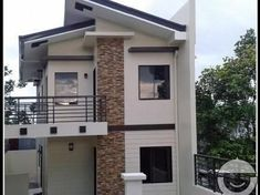 mandaue brand new house and lot with modern design Zen House Design, Two Story House Design, Modern Small House Design, 2 Storey House Design, Minimalist House Design, Home Design, Modern Zen House, Modern Design, Design Ideas