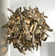 rian rae, driftwood pendant. bringing the outdoors inside $3,300.