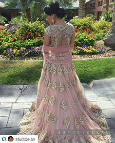 #Repost @studioelan Beautful California bride. More pictures coming soon. Hair and makeup @studioelan artist Sukhi ____________________ #studioelan #hudabeauty #vegas_nay #sabyasachi #bridalhair #indianwedding #sikhwedding #vancouverwedding #wakeupandmake