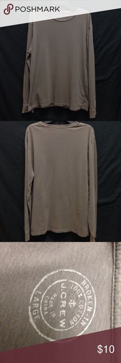 J.Crew Slim Broken-In Long Sleeve Cotton Tee Chest 46 Length29 This shirt is excellent condition. no rips stains or tears. perfectly faded for that broke in look. J. Crew Shirts Tees - Long Sleeve