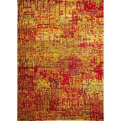 Sari Silk Leigh Gold Hand-knotted Rug (8'9 x 11'9) (Size), Size 8' x 10' (Viscose, Abstract)
