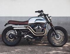 On BikeBound.com: Moto Guzzi V7 #scrambler by @baakmotocyclettes of France.