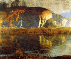 Daniel Garber (American, 1880-1958), The Quarry, 1917. Oil on canvas, 50 x 60 in. Pennsylvania Academy of the Fine Arts.