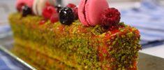 Budín de frambuesas, pistachos y macarons Osvaldo Gross, My Dessert, Recipes, Anna Olson, Food, Cheesecakes, Chefs, Gourmet, Raspberries