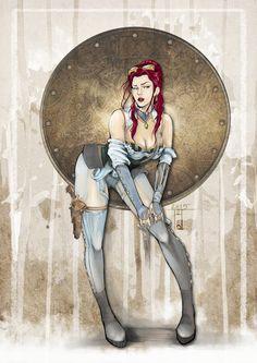 ArtStation - Steampunk pin up girl, Aeon Skiagraphia