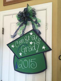 Congrats Grad Wooden Door Hanger