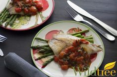 Wildtree's Pan Roasted Fish with Tomato Caper Sauce Recipe www.mywildtree.com/jodimeisner
