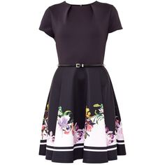21f860e676 Ted Baker Milleh Lost Gardens Border Skater Dress (2.730 UYU) ❤ liked on  Polyvore