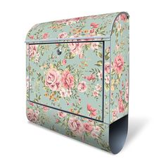 Design Mailbox with newspaper case, Designer Motive Postbox for A4 sendings, silver, letters, large, colorful, lockable made by banjado motive Altrosa Blume: Amazon.co.uk: DIY & Tools
