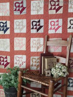 Early Antique c1860-1880 Baskets QUILT Beautiful Sampler of Fabrics