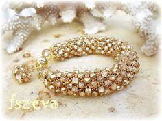 Pictorial Tutorial of Embellished Netting Bracelet (part 1 of 4)