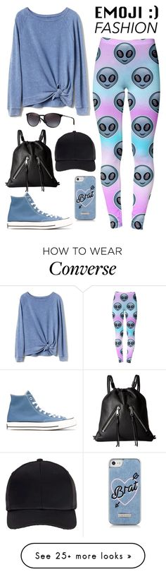 """Wink, Wink: Emoji Fashion"" by the-geek-goddess on Polyvore featuring Converse, Gap, Ray-Ban, Miss Selfridge and Rebecca Minkoff"