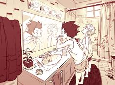 Gon-HunterXHunter one scene of a couple's daily life, morning, darling