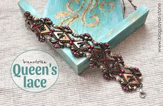 Queen's lace – bransoletka z AvaBeads i ZoliDuo – tutorial | Royal-Stone blog