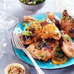 Citronmarinerad grillad kyckling - recept   Mitt kök