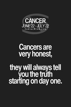 And some people can't handle the truth but oh well... Our character shines through :) #cancerian